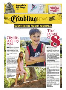 Front page of Crinkling News issue 57. Copyright Crinkling News Pty Ltd 2017 copy