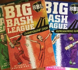 Front covers of Big Bash League books