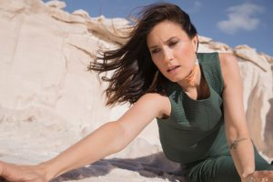 Singer, songwriter and mum Missy Higgins photographed on a sand dune.