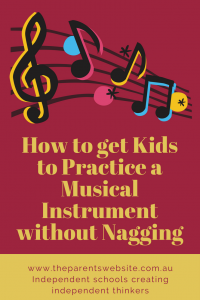 How to get kids to practice a musical instrument without nagging | image of musical notes