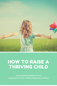 How to rise a thriving child | image of little girl with a pinwheel
