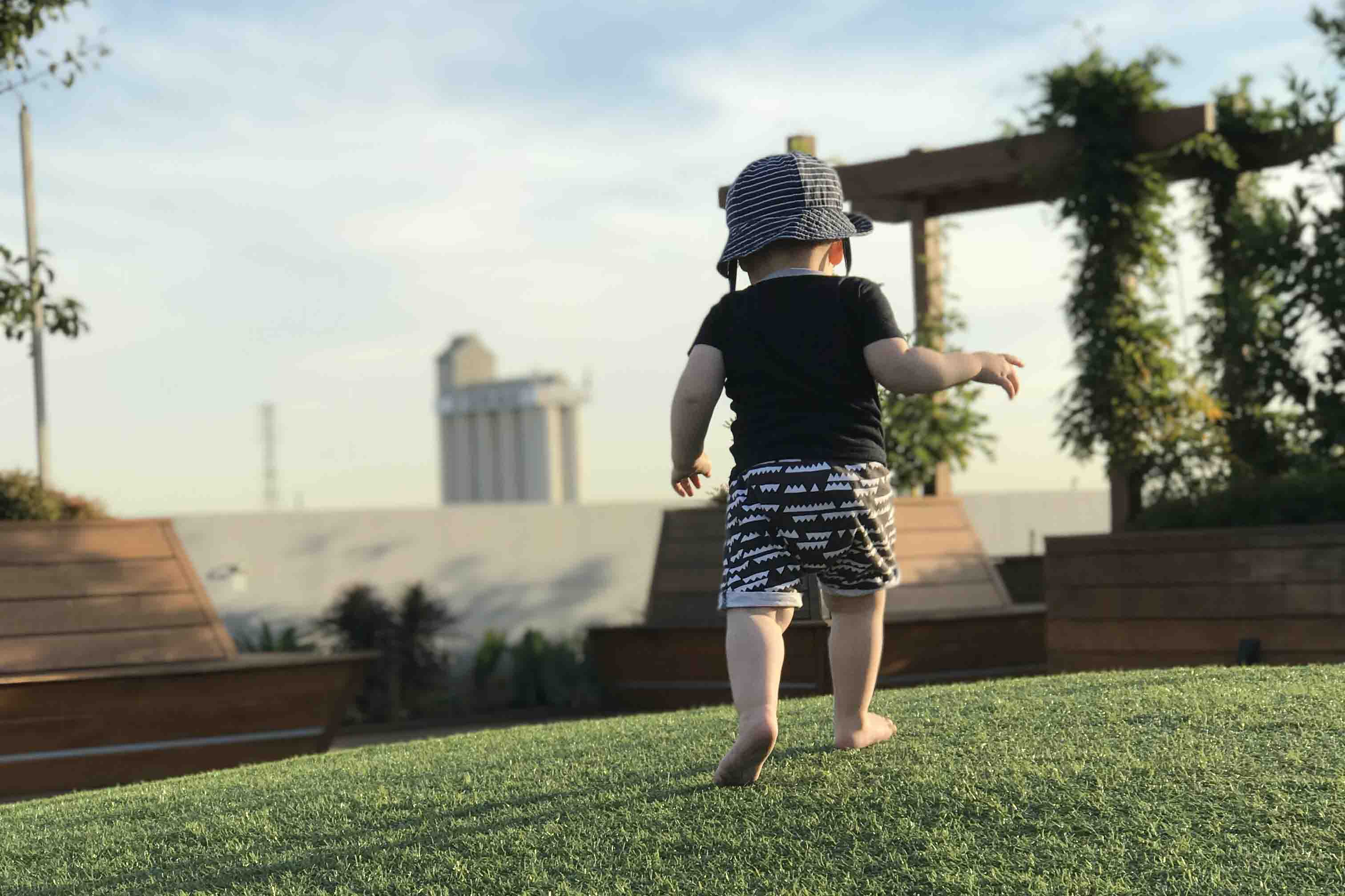 My Little Human | Image of small child running
