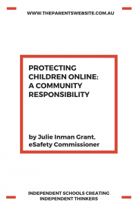 Protecting children online: a community responsibility | Image of text