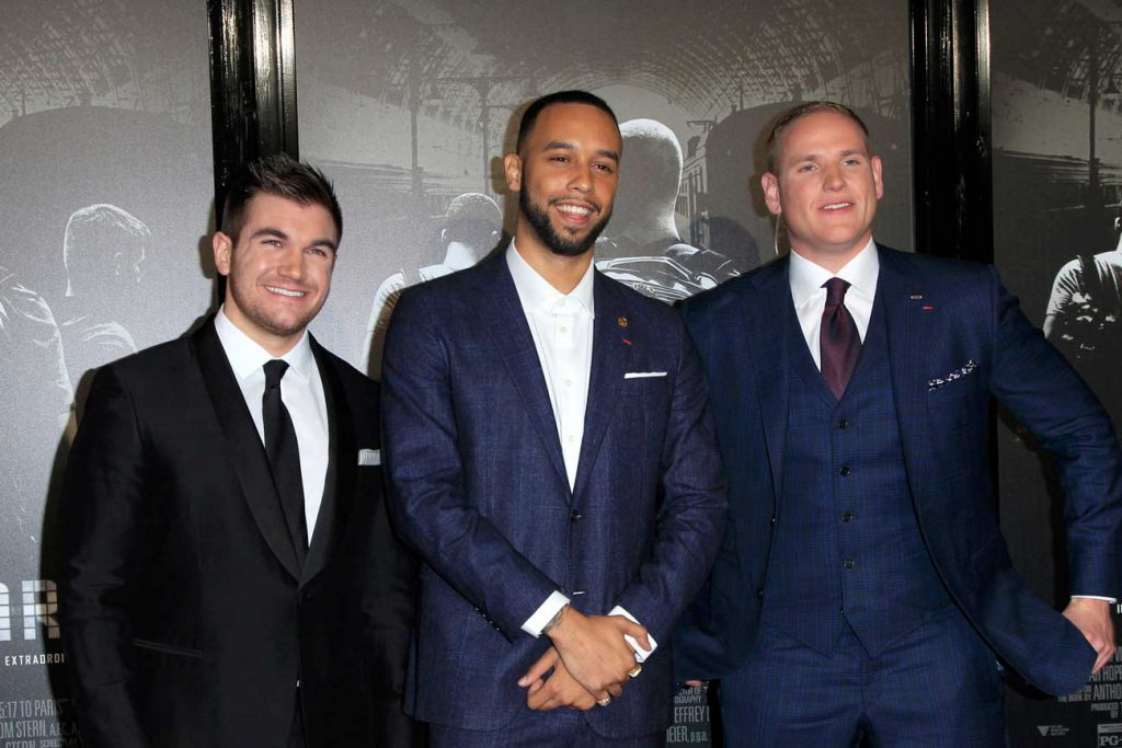 Be Good for Something - Alek Skarlatos, Anthony Sadler, Spencer Stone at the The 15:17 To Paris World Premiere