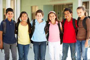 The Parents' Website | Image of a group of middle years students