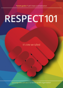Talking about Respect - cover of new resources for parents and teachers