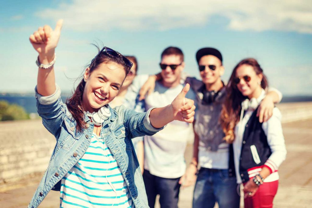 The Parents' Website | Group of happy young adults outside