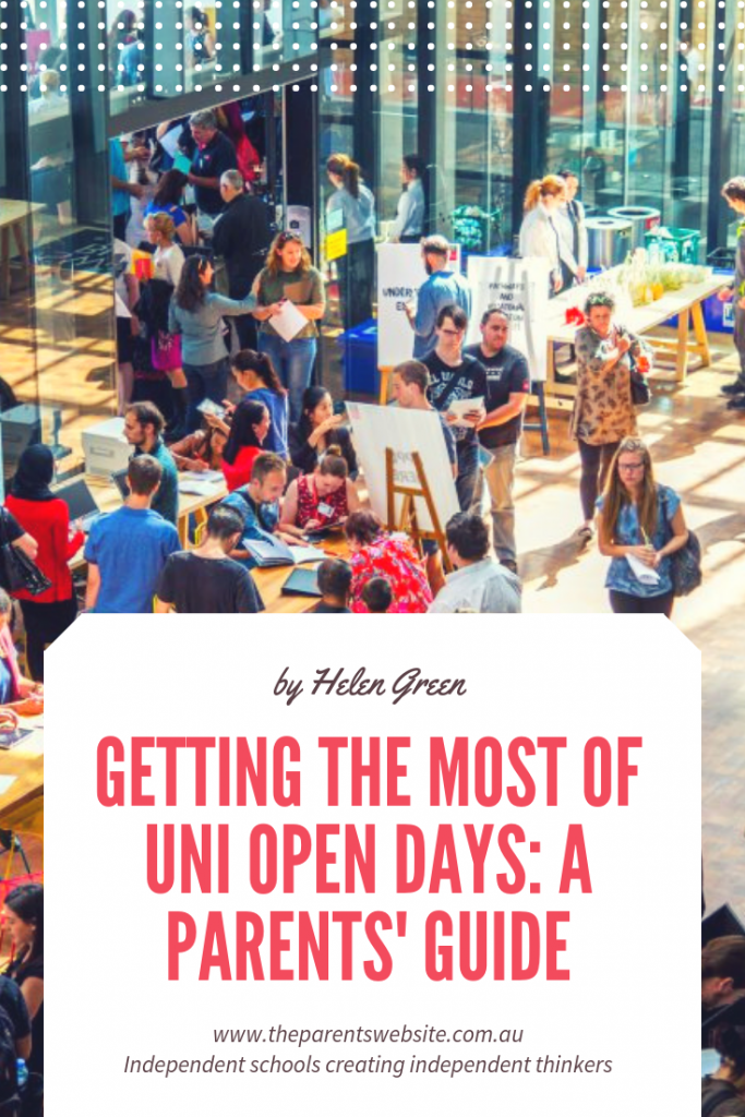 The Parents' Website | Pin image of a university open day