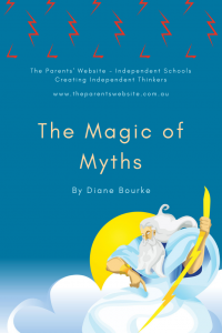 The Parents' Website | Pin image of a cartoon of Zeus