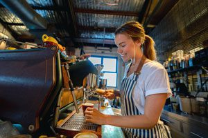 The Parents' Website | Image of young female barista