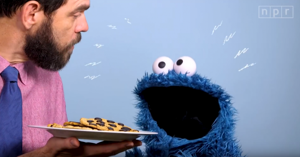 Cookie Monster Shows Self-Control in NPR Video