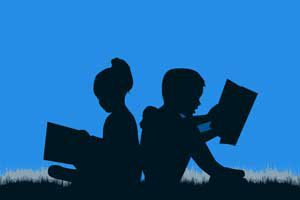 The Parents' Website | Silhouette of boy and girl reading