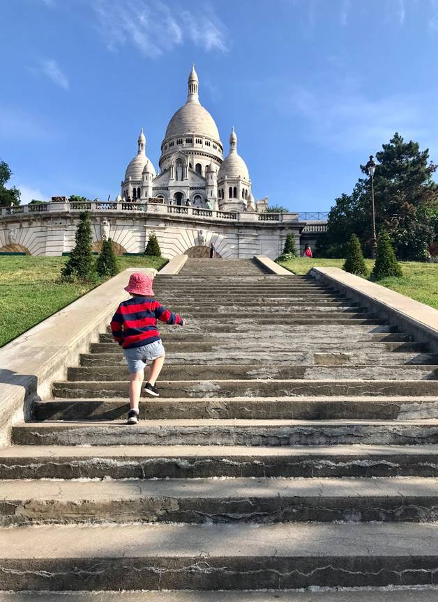 Travelling, with my tiny humans I The Parents' Website - toddler running up the stairs